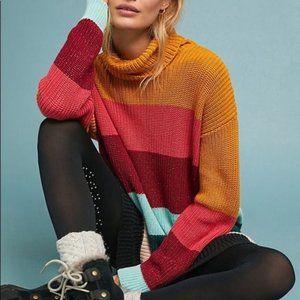 Farm Rio Boldly Striped Sweater Dress XS